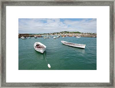 Boats In Habour Framed Print