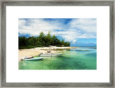 Boats In La Passe Framed Print by Fabrizio Troiani