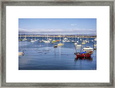 Boats In Monterey Bay Framed Print