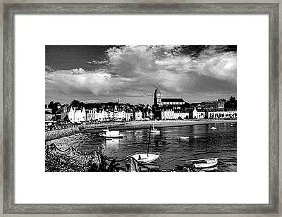 Boats In The Anse Framed Print