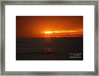 Boats In The Distance  Framed Print by Wendy  Coloma