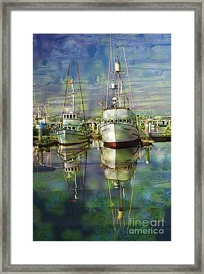 Boats In The Harbor Framed Print by Ronald Hoggard