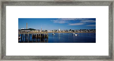 Boats In The Sea, Provincetown, Cape Framed Print by Panoramic Images