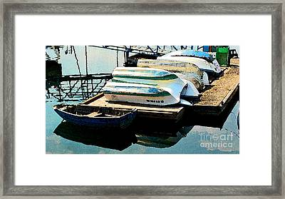 Framed Print featuring the photograph Boats In Waiting by Larry Keahey