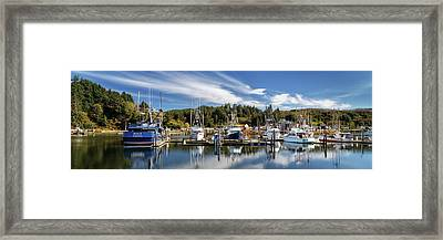 Framed Print featuring the photograph Boats In Winchester Bay by James Eddy