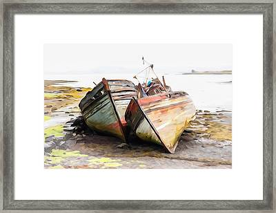 Boats Isle Of Mull 5 Framed Print by Tom and Pat Cory