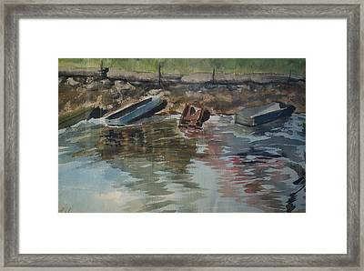 Boats Framed Print by Karen Thompson
