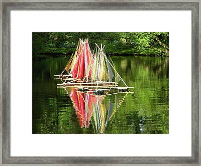 Framed Print featuring the photograph Boats Landscape by Manuela Constantin