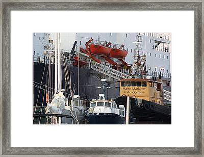 Boats Of Maine Maritime Academy Framed Print