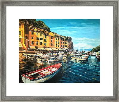 Boats Of Portofino  Framed Print by Nathan Lewis