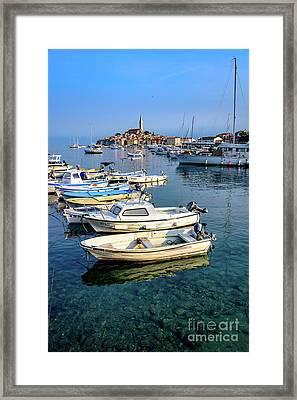 Boats Of The Adriatic, Rovinj, Istria, Croatia  Framed Print
