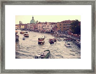 Framed Print featuring the photograph Boats Of Venice by Brad Scott