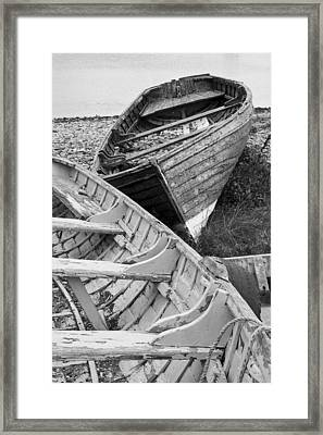 Boats On Beach - Greystones Harbour Framed Print by Gary Rowe