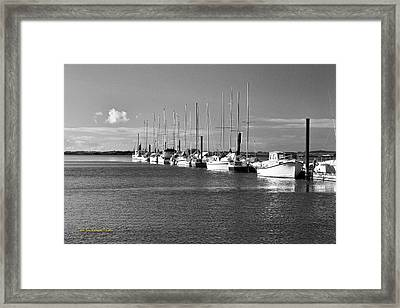Boats On The Estuary Framed Print