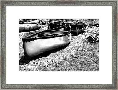 Boats On The Sand Framed Print by David Patterson