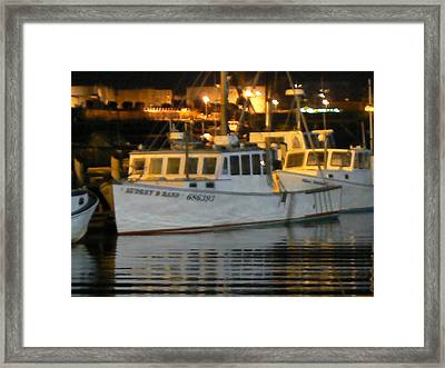 Boats Portland Maine Framed Print by Ron Hayes