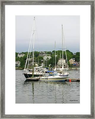 Boats Rocky Neck Art Colony Gloucester Massachusetts Framed Print by Michelle Wiarda