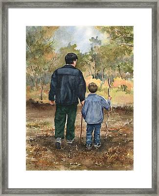 Bob And Alex Framed Print by Sam Sidders