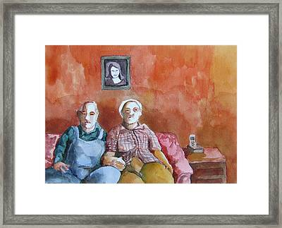 Bob And Edith Remember Things The Way They Used To Be Framed Print by James Huntley