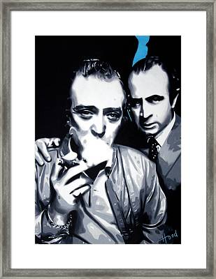 Bob And Mic 2013 Framed Print by Luis Ludzska