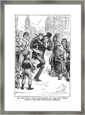 Bob Cratchit & Tiny Tim Framed Print