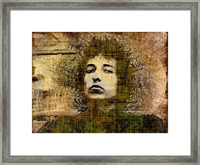 Bob Dylan 1 Framed Print by Tony Rubino