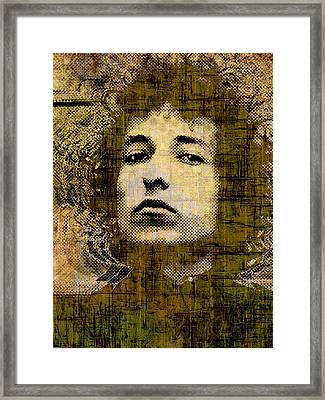 Bob Dylan 1 Vertical Framed Print by Tony Rubino