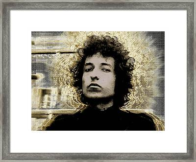 Bob Dylan 2 Framed Print by Tony Rubino