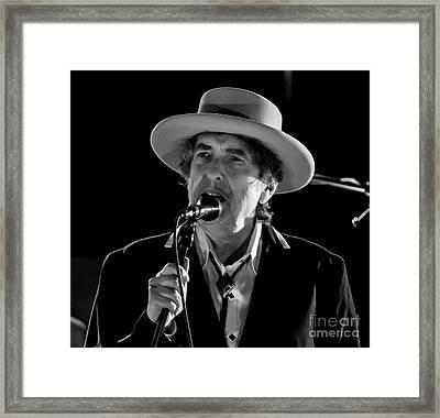 Bob Dylan And His Band Framed Print