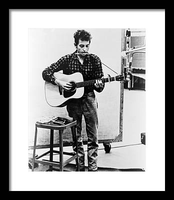 Rock And Roll Bob Dylan Framed Prints