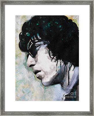 Bob Dylan Framed Print by Chrisann Ellis