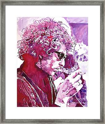 Bob Dylan Framed Print by David Lloyd Glover
