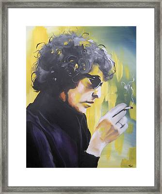 Bob Dylan Framed Print by Matt Burke