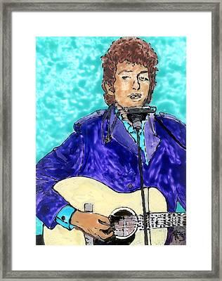 Bob Dylan Number 3 Framed Print by Phil Strang