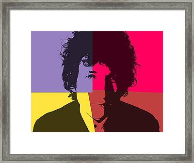 Bob Dylan Pop Art Panels Framed Print