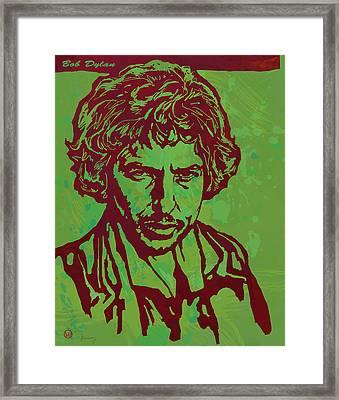 Bob Dylan Pop Art Poser Framed Print