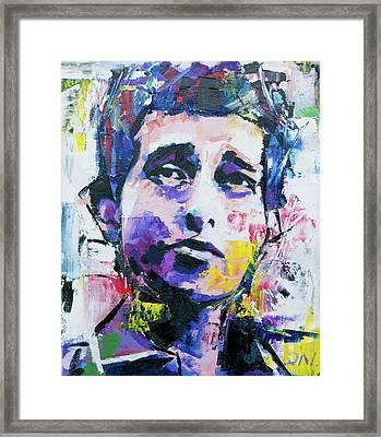 Bob Dylan Portrait Framed Print by Richard Day
