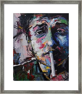 Bob Dylan Framed Print by Richard Day