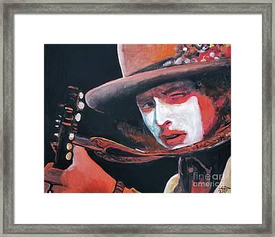Bob Dylan Framed Print by Tom Carlton
