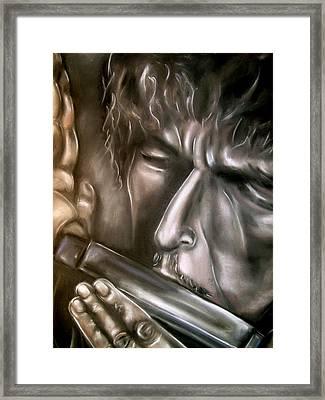 Bob Dylan Framed Print by Zach Zwagil