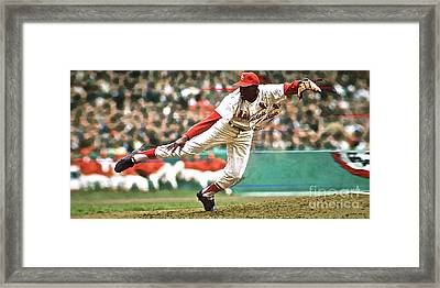 Bob Gibson, 1964 Game 7 Series Mvp Framed Print by Thomas Pollart