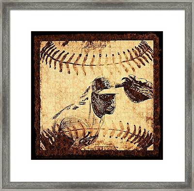 Bob Gibson Framed Print by Chris Grimm
