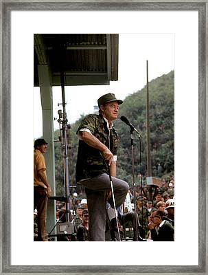 Bob Hope As An Army Man Framed Print