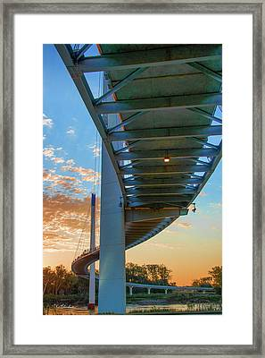 Bob Kerry Bridge At Sunrise-2 Framed Print