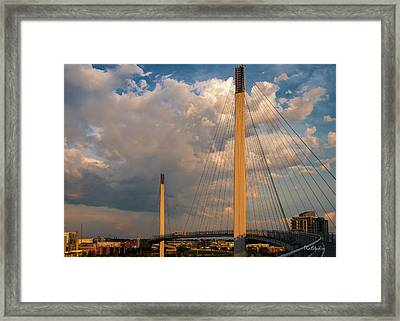 Bob Kerry Bridge At Sunrise-3 Framed Print