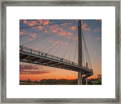 Bob Kerry Bridge At Sunrise-4 Framed Print