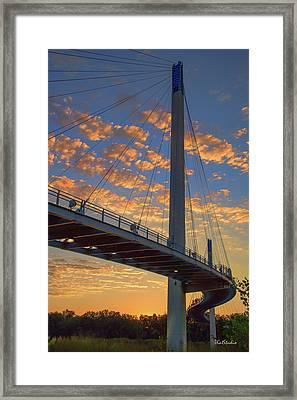 Bob Kerry Bridge At Sunrise Framed Print
