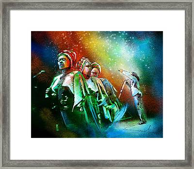 Bob Marley And The Ithrees Framed Print by Miki De Goodaboom