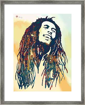 Bob Marley Art Stylised Pop Poser Framed Print