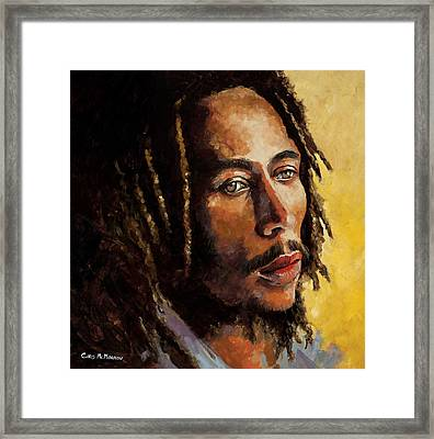 Bob Marley Framed Print by Chris Mc Morrow
